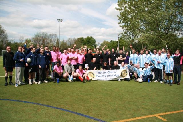 May 2012 Tommy McLafferty Football Tournament for Homeless communities - The players ahead of the start of play