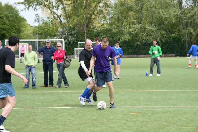 May 2012 Tommy McLafferty Football Tournament for Homeless communities - Michael being tackled on the run
