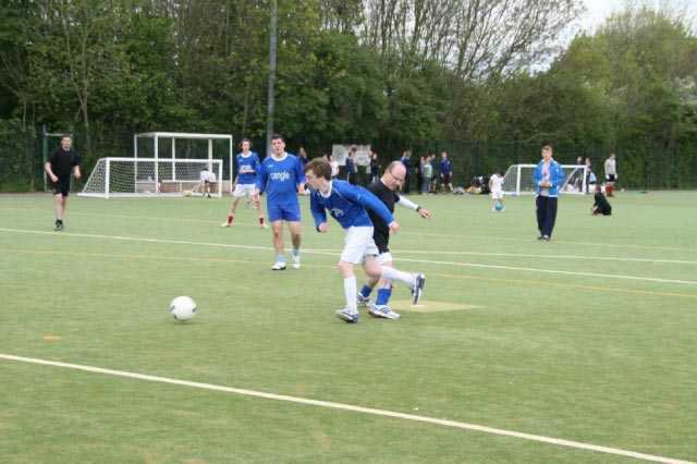 May 2012 Tommy McLafferty Football Tournament for Homeless communities - Michael in another tackle