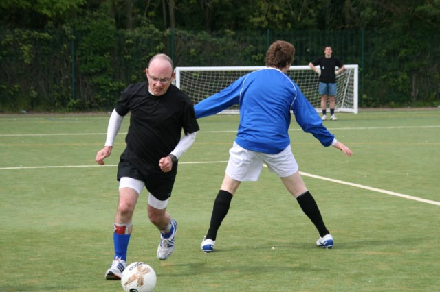 May 2012 Tommy McLafferty Football Tournament for Homeless communities - This time beating his marker