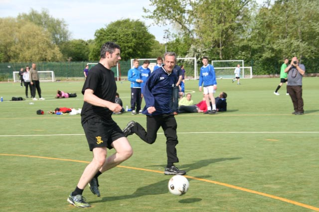 May 2012 Tommy McLafferty Football Tournament for Homeless communities - Beating his defender