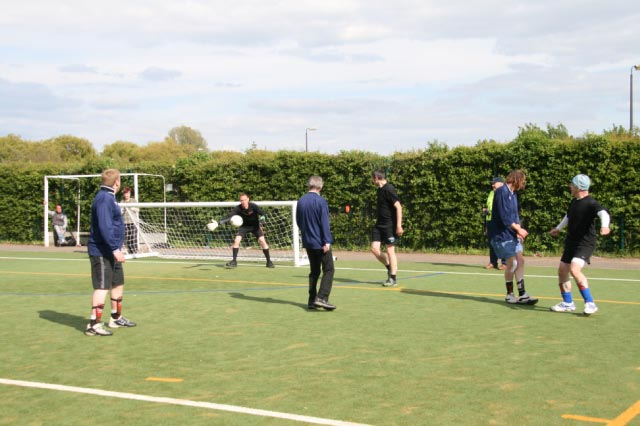 May 2012 Tommy McLafferty Football Tournament for Homeless communities - Another goal attempt foiled