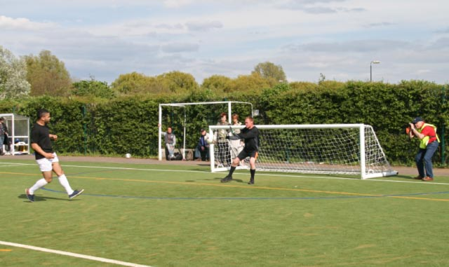 May 2012 Tommy McLafferty Football Tournament for Homeless communities - Yet another shot at goal saved