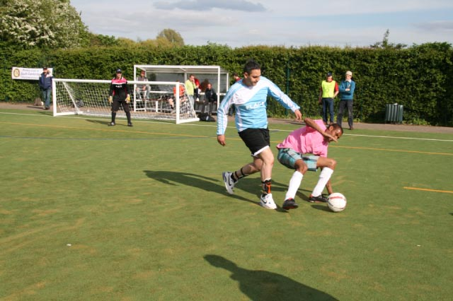 May 2012 Tommy McLafferty Football Tournament for Homeless communities - Clever foot work