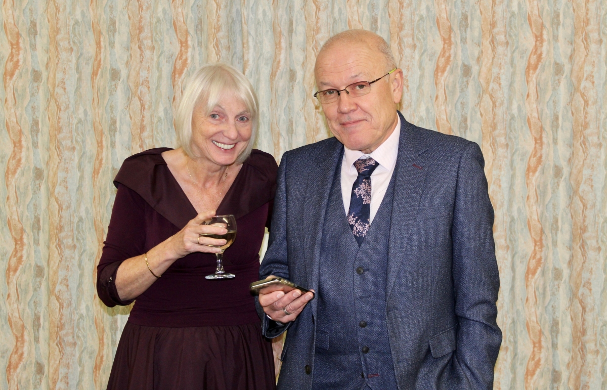 Annual Burns Supper 15th January 2020 - Past presidents Liz and Trevor Baxter.