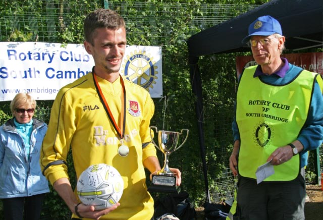 May 2012 Tommy McLafferty Football Tournament for Homeless communities - The winner of the Goalkeeper of the Tournament award