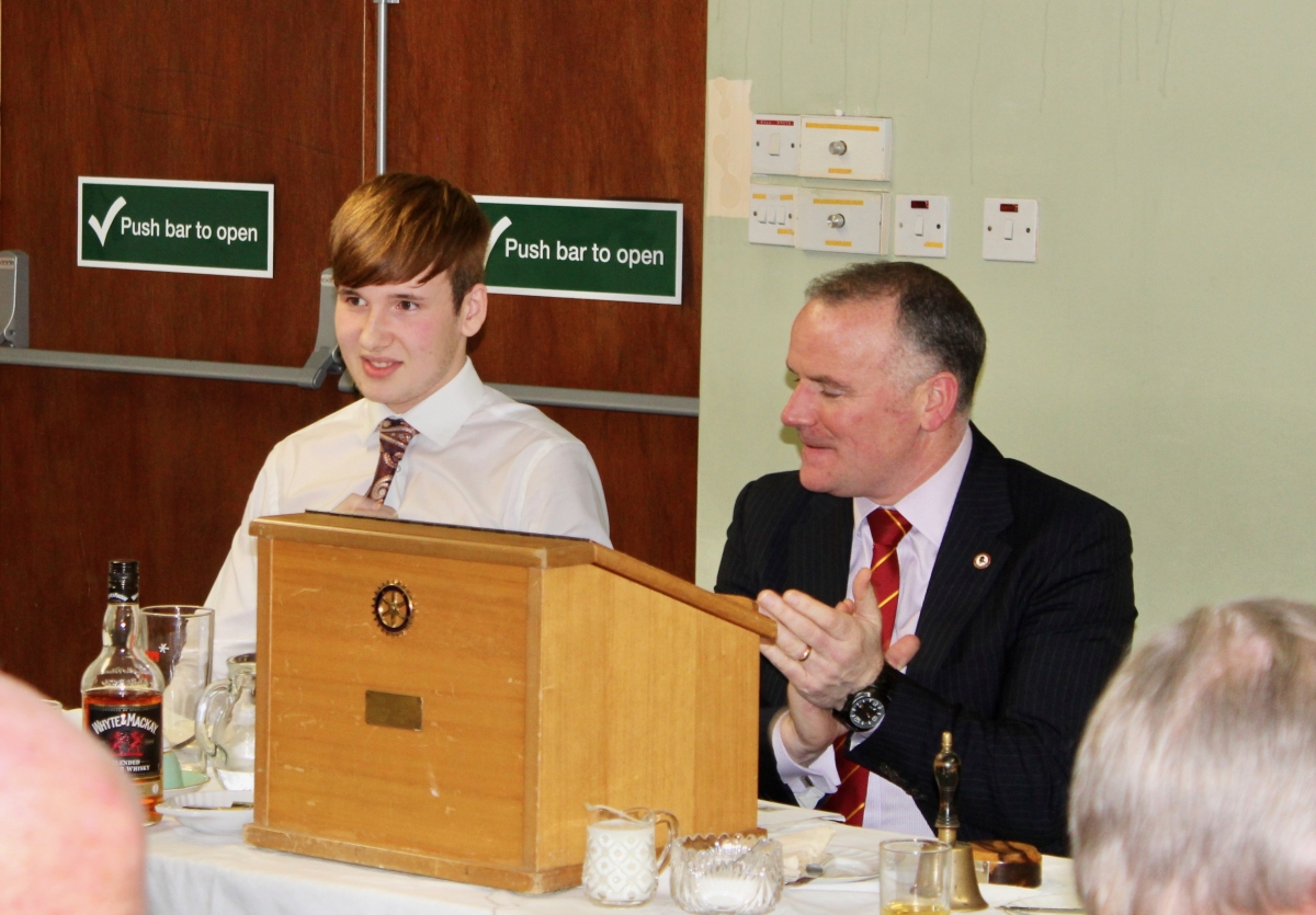 Annual Burns Supper 15th January 2020 -  L-R Troy Barbour and Stephen Hastie.