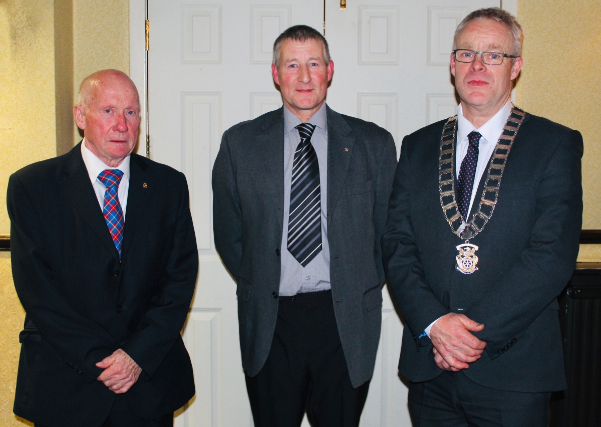 Norman Brough Joins the Team - (L-R) Membership Convenor, Ian Lewis, Norman Brough, President, Michael Keene