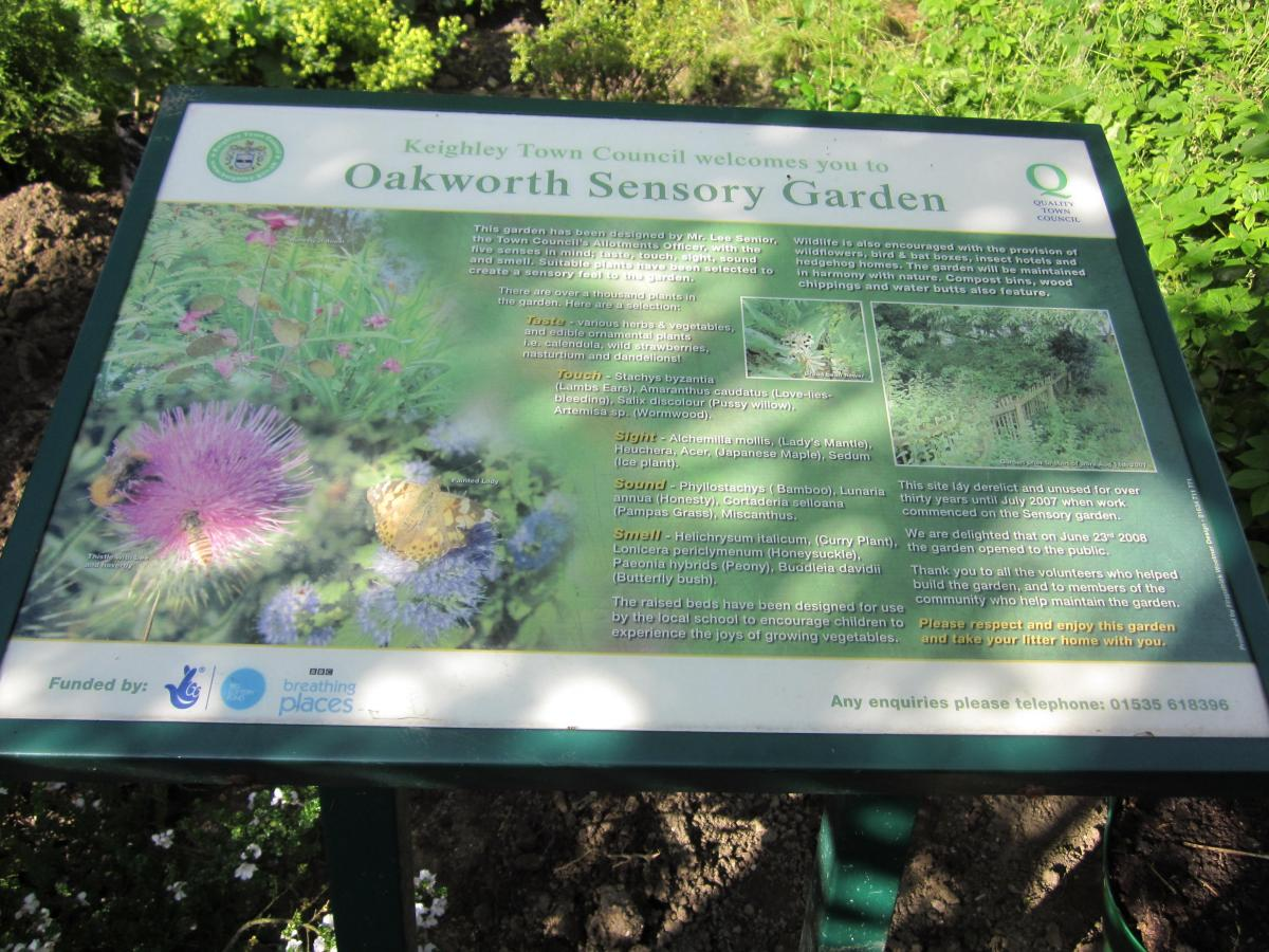 Oakworth Sensory Garden  - Welcome to the Garden