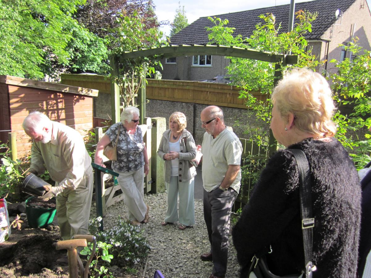 Oakworth Sensory Garden  - with the project manager trying to look busy