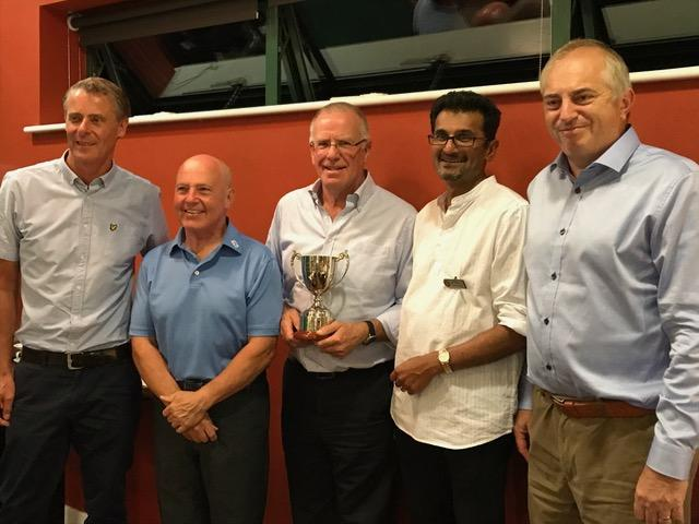 Golf Day in aid of Polio Eradication - Our winners receiving their prize from the club president