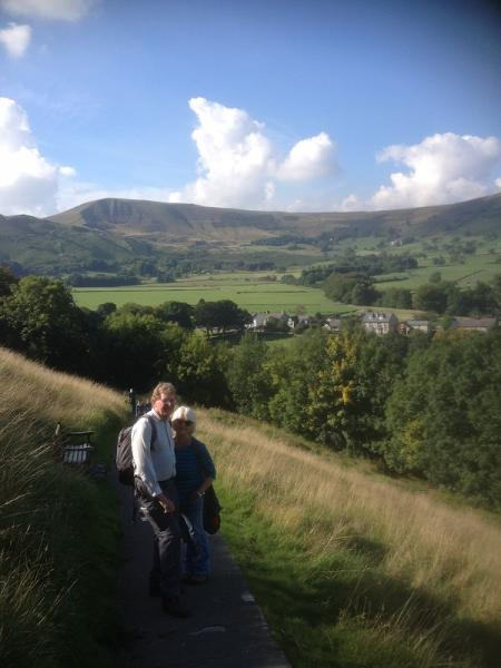 Derbyshire 2015 - Our leaders needed an extra challenge so climbed up to Peveril Castle where we had panoramic views of our whole walk