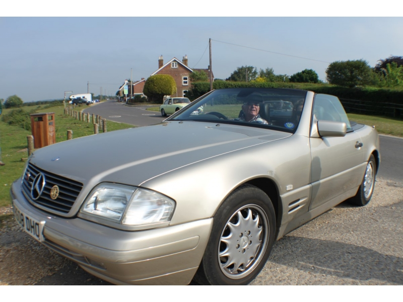 M.G. Owners Run Raises Funds for Solent Dolphin - One Mercedes among the many M.G.s