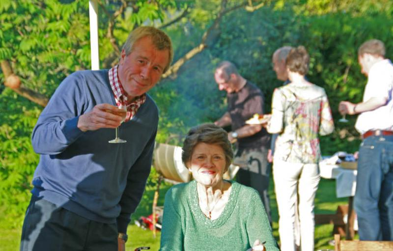 Jun 2012 Club Barbeque - Harlton (no meeting at the University Arms) - Colin and Anne, who is Colin toasting?