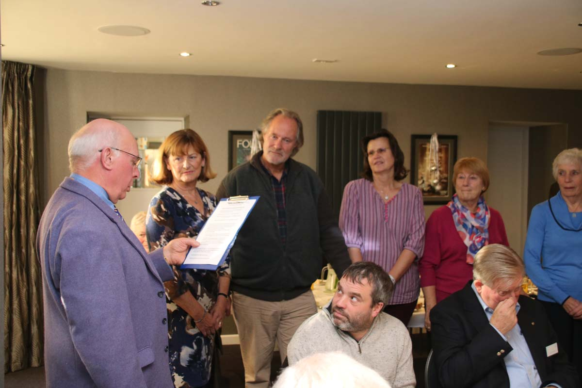 Friends of Ilfracombe Rotary - President John Stainer welcomes the new Friends of Ilfracombe Rotary.