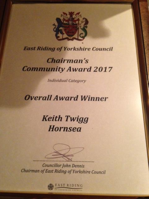 Rotarian receives a County Council's Community Award -