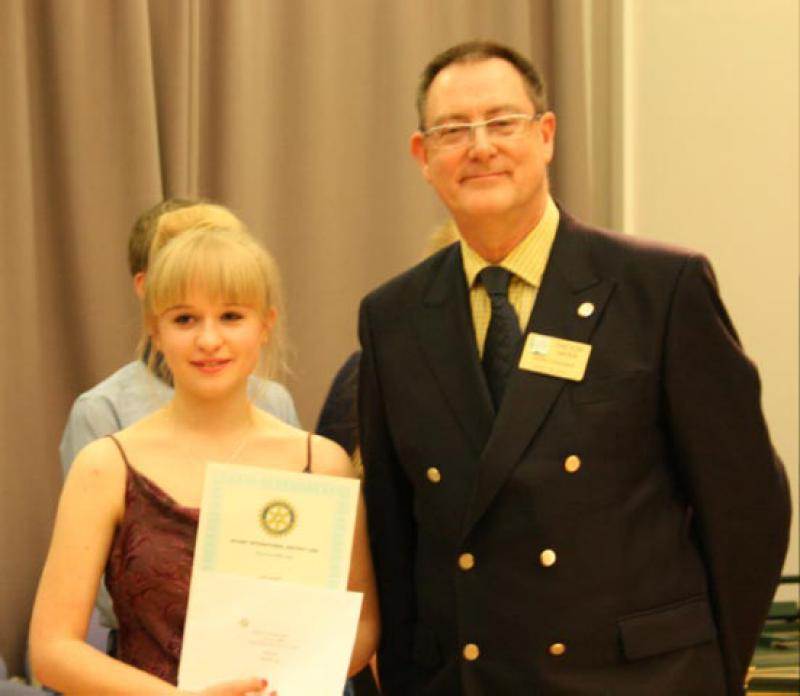 Molly Hazelwood runner-up in the vocal section with the DG