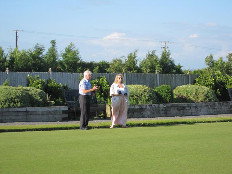 BLACKPOOL SOUTH ROTARY CLUB CROWN GREEN BOWLING COMPETITION - 2014 - We think that this was experience versus youth.