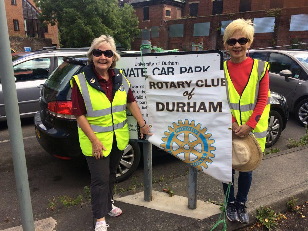 The Car Park Rota - It's never too soon for a new member to volunteer. Well done Yan!