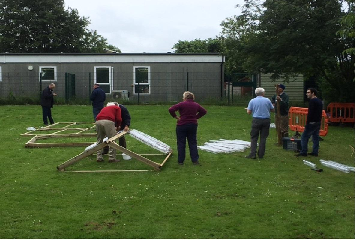 EcoGreenhouse Construction at Robert Miles Infant School -