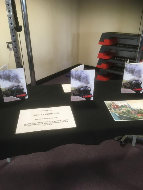 Ross Model Railway Exhibition 2019 - Adrian Coombes had booked a table, but unfortunately died in June