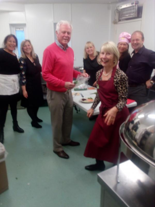 Christmas dinner cooked for the ladies -