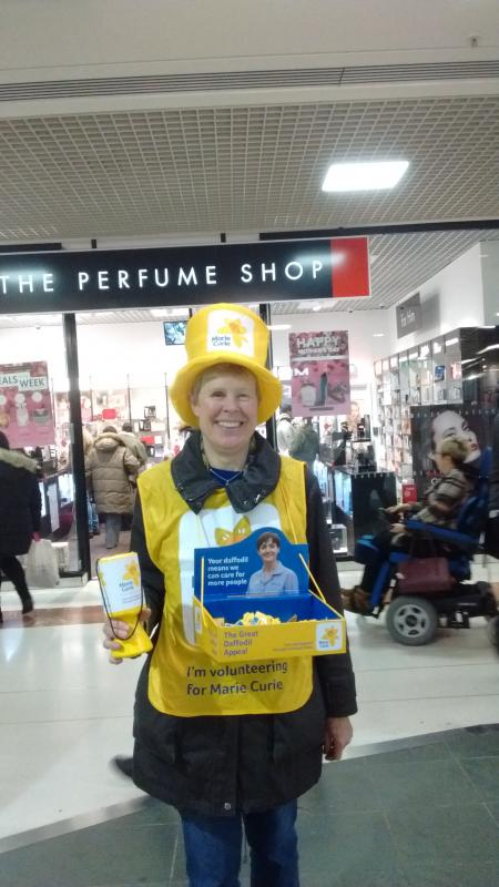 Community Projects - Club members helped with Marie Curie Daffodil Day