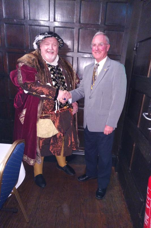 Picture Gallery - President meeting Henry VIII. We get the most interesting speakers.