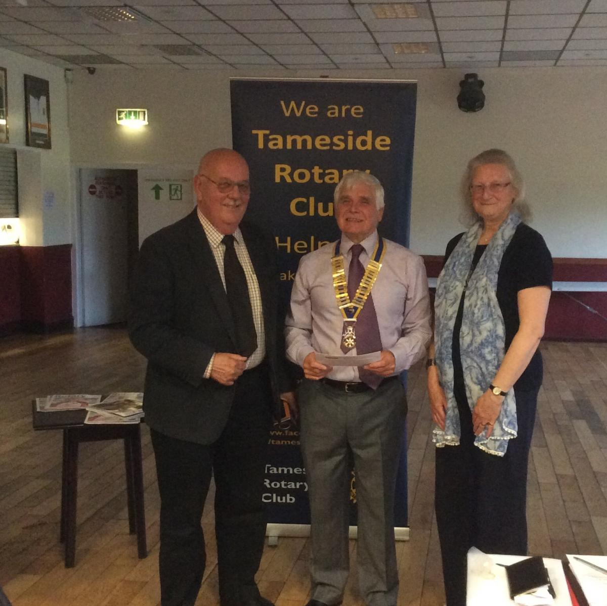 Handout Donations to Tameside Local Organisations  - John Howard & Sylvia Cooke
