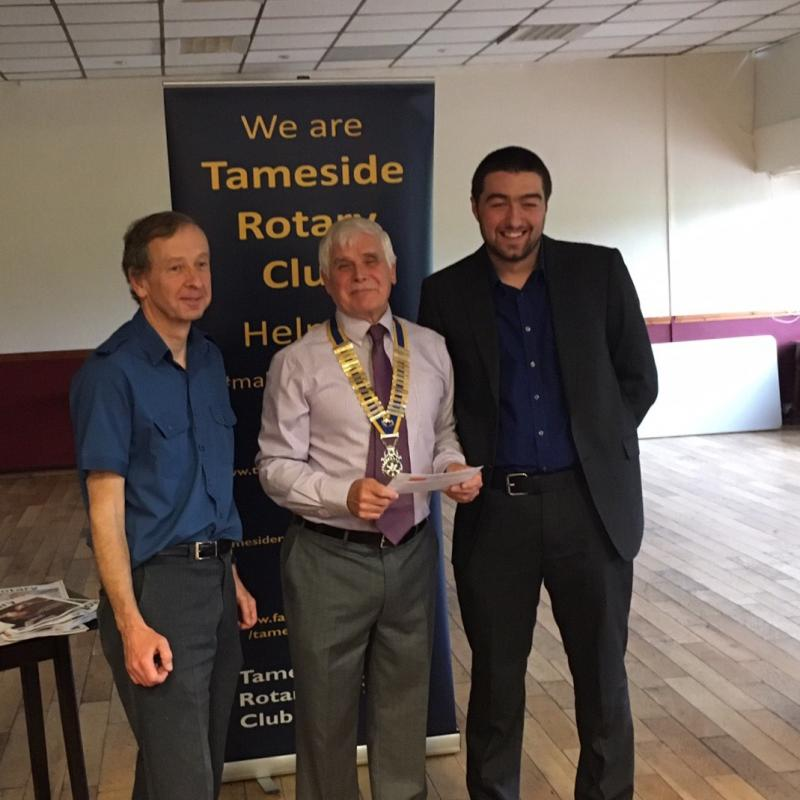 Handout Donations to Tameside Local Organisations  - Dan Crocker & Phil Handscombe
