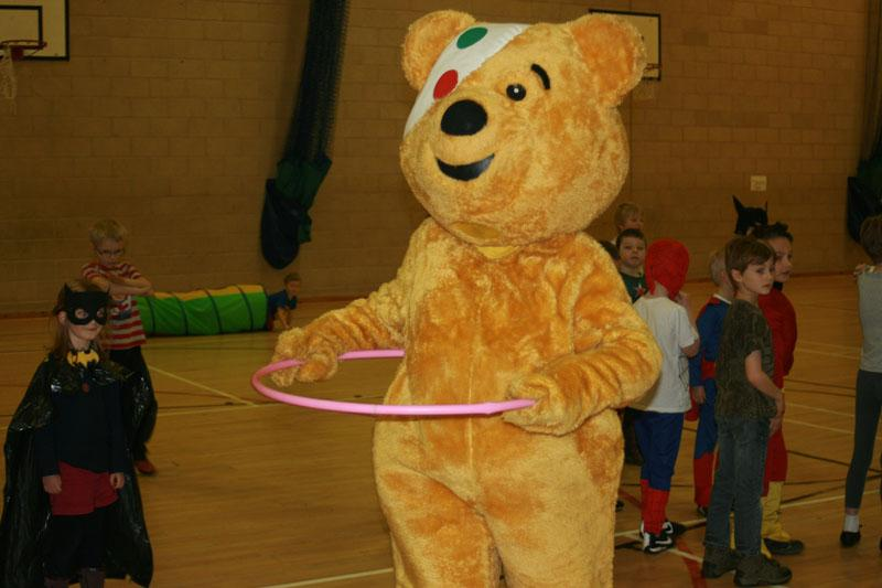 Children in Need 2014 - Of course Pudsey can do the hula-hoop