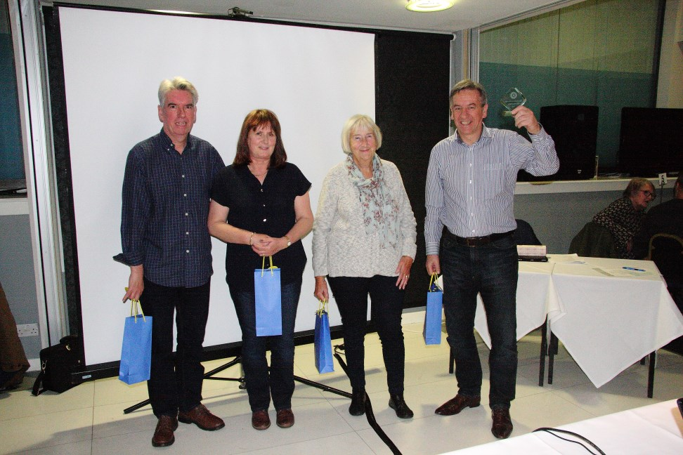 2016 Ultimate Quiz Winners - Prize for team from Riddell Project Management for most funds raised
