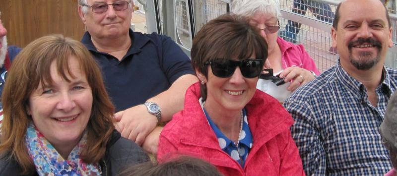 Falkirk Wheel Visit 29th June 2014 - Now who had too much last night?????