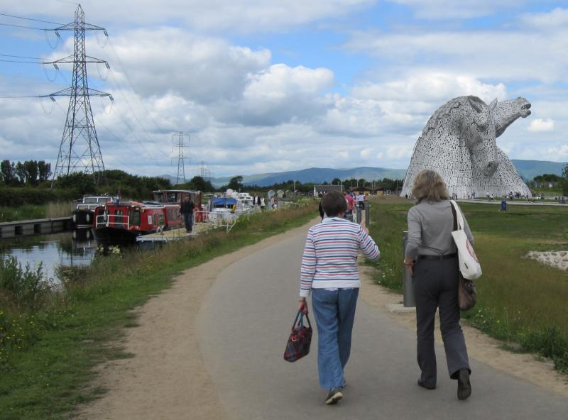 Falkirk Wheel Visit 29th June 2014 - Taking up the rear --