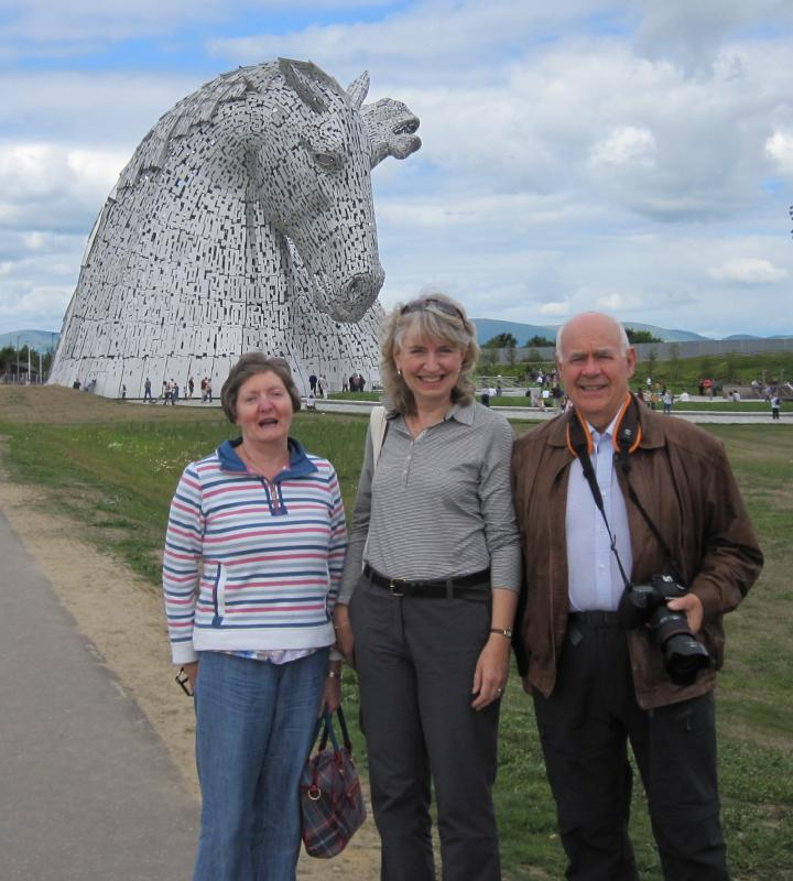 Falkirk Wheel Visit 29th June 2014 - Maureen, Jane & Ian