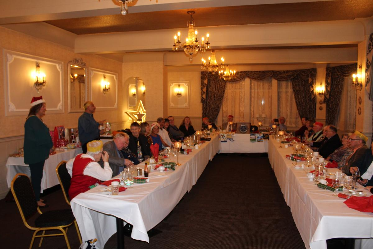 Annual Christmas Dinner 2018 - View from bottom table
