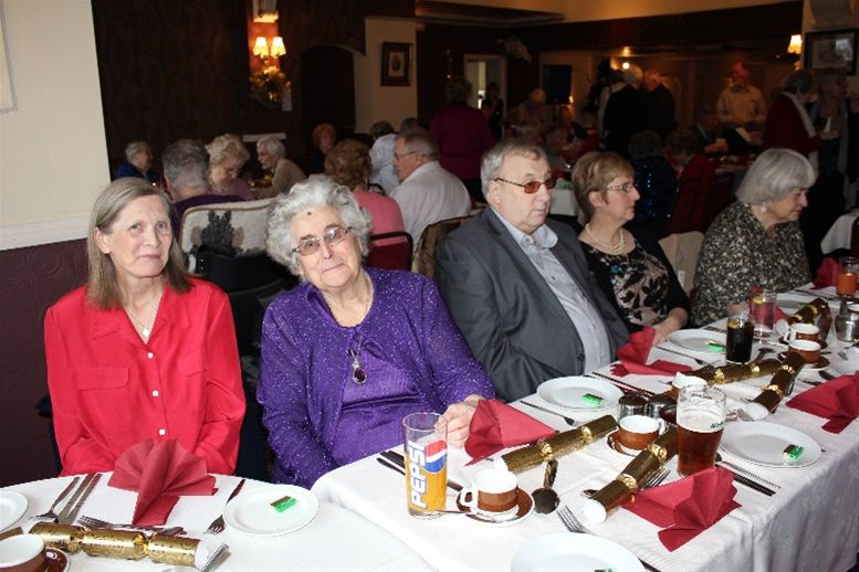 Christmas meal with local residents -