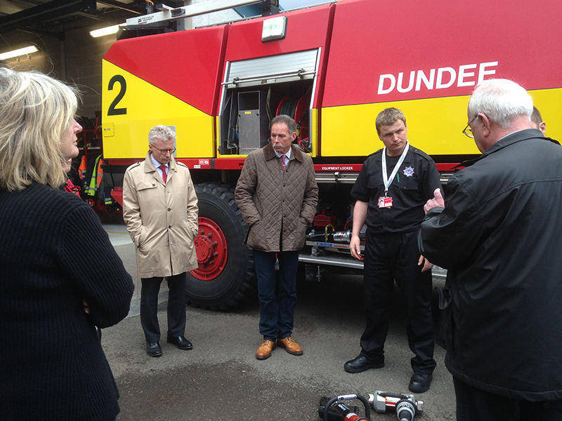 Visit to Dundee Airport - Airport fire truck