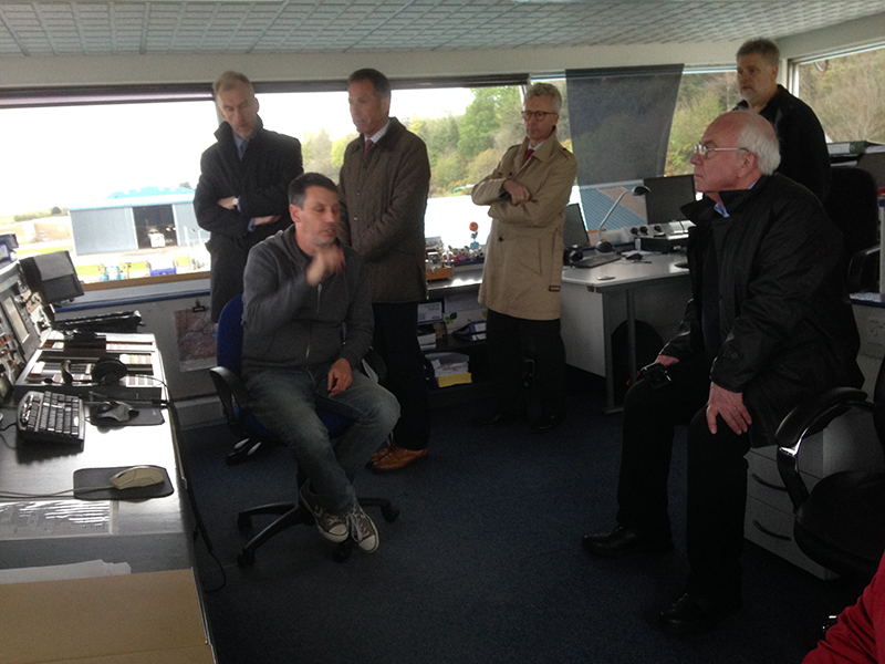 Visit to Dundee Airport - Air traffic control tower