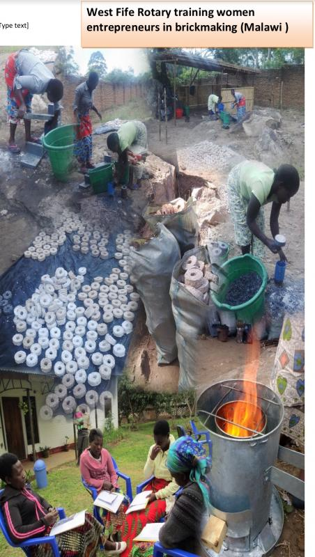 Final Report to District on Malawi  - collage - Dzungu briquette making