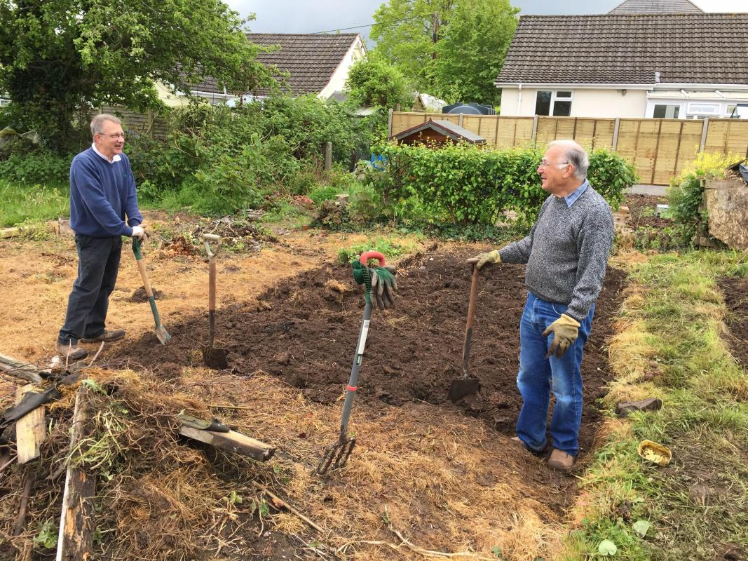 The Rotary Allotment takes shape -