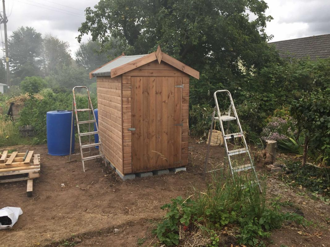 The Rotary Allotment takes shape - The shed is almost finished – just a few finishing touches to add.