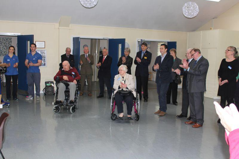 Samson Centre Project - Guests included Martin Dent chair of Trustees,Peter O'Keefe-District Governor, Ann Chase-President Inner Wheel, David Elms, Immediate past Mayor, Frank West, District Governor elect, Mrs Sue Jackson Deputy Mayoress.