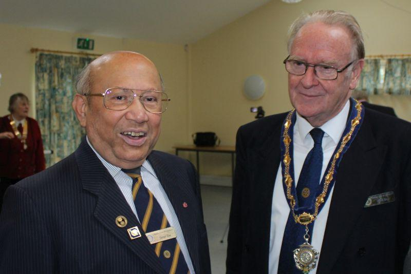 Samson Centre Project -  Sam das with Guildford President Chris Blow