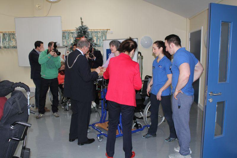 Samson Centre Project - Anne Milton talks to Physiotherapist Helen Russell and Mike Chalmers fitness instructor.