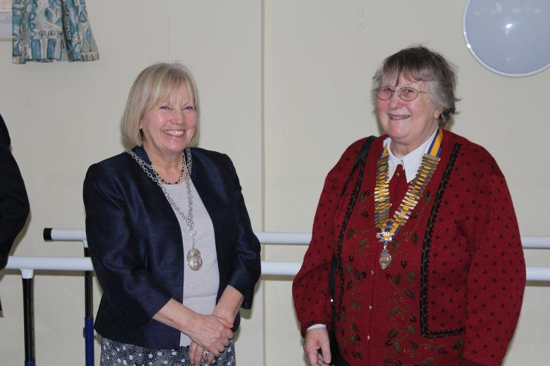 Samson Centre Project - Deputy Mayoress Sue Jackson with Guildford Inner Wheel President Ann Chase