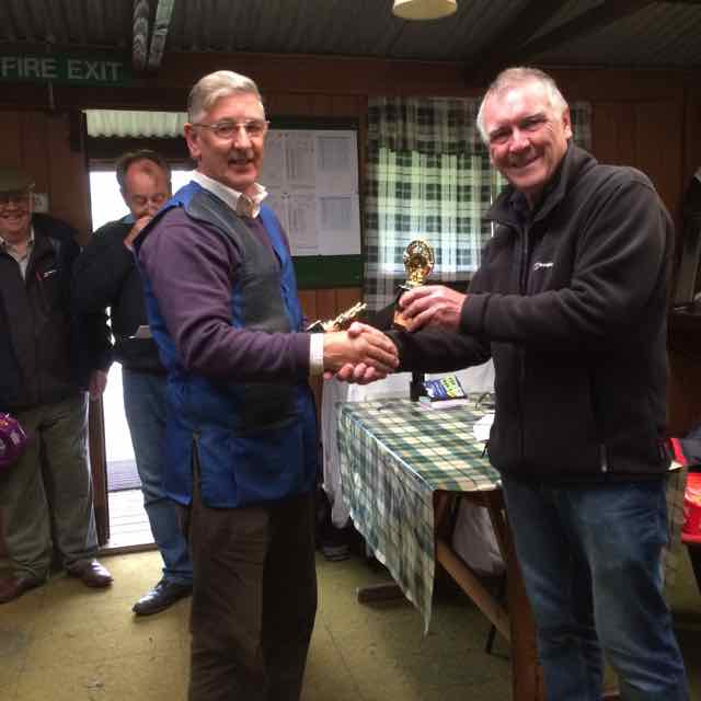 2016 Rotary Charity Clay Pigeon Shoot Saturday 24th September 2016 - presentation to Edward Roberts  who together with David Taverner and Len Roberts made up the winning team