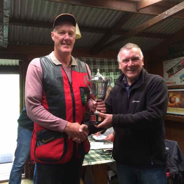 2016 Rotary Charity Clay Pigeon Shoot Saturday 24th September 2016 - Gary Davies receiving the challenge cup as overall winner.
