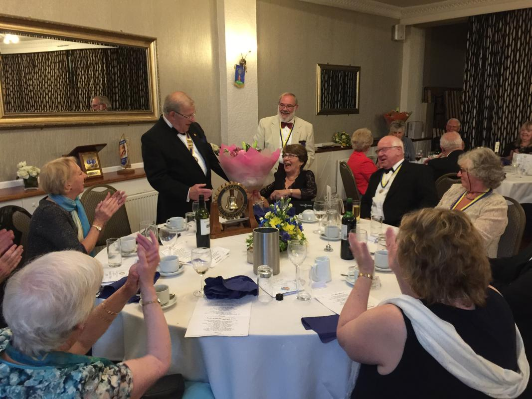 Presidents Night at The Beam Bridge Inn - The 'top table'