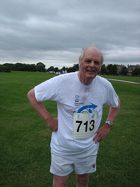 Run for the Future -  Past Pres.  Prof David Easty does his stuff!